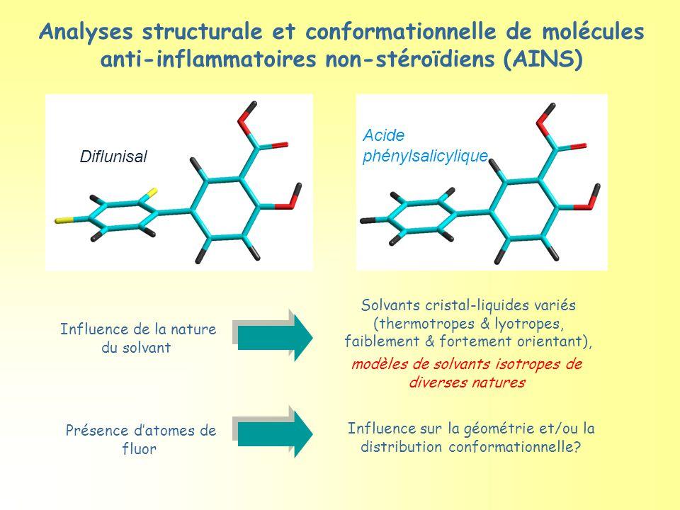 Analyses structurale et conformationnelle de molécules anti-inflammatoires non-stéroïdiens (AINS)