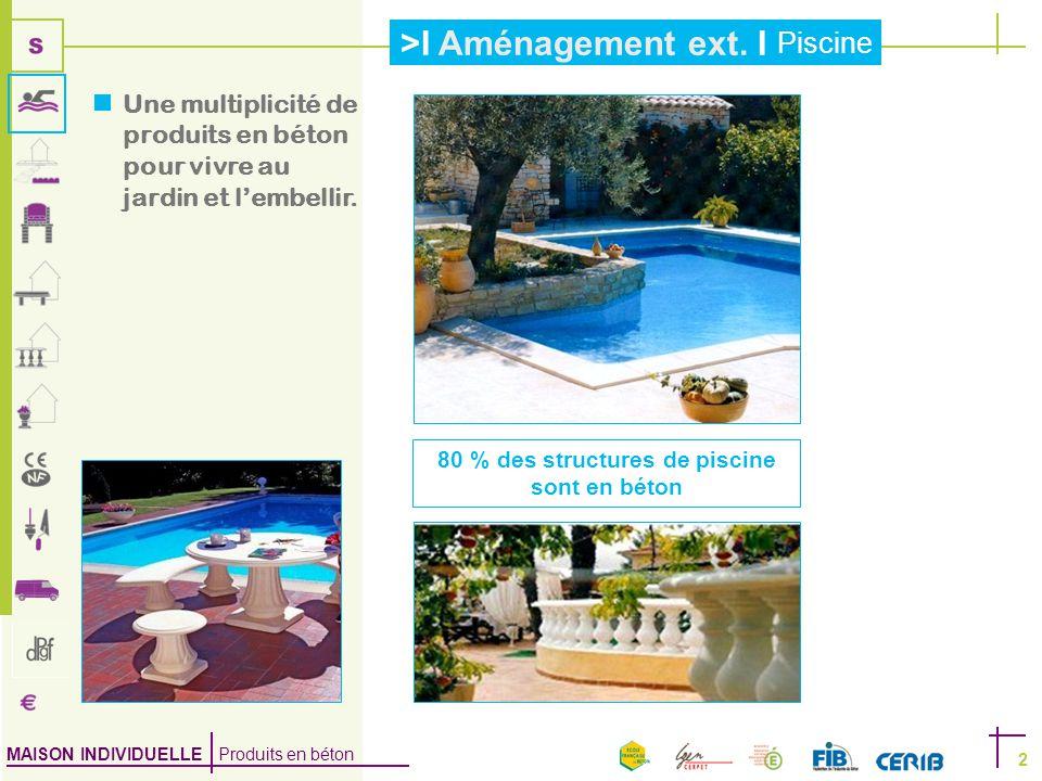 80 % des structures de piscine sont en béton