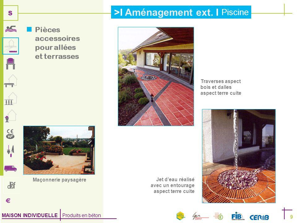 Pièces accessoires pour allées et terrasses
