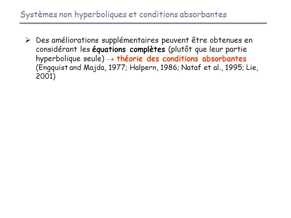 Systèmes non hyperboliques et conditions absorbantes