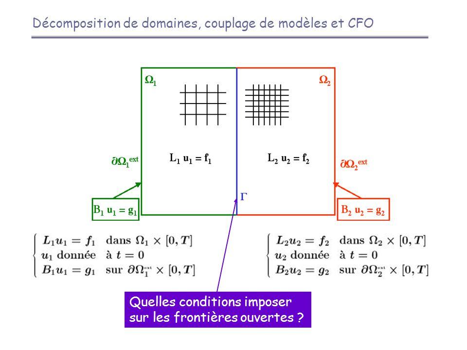 Décomposition de domaines, couplage de modèles et CFO