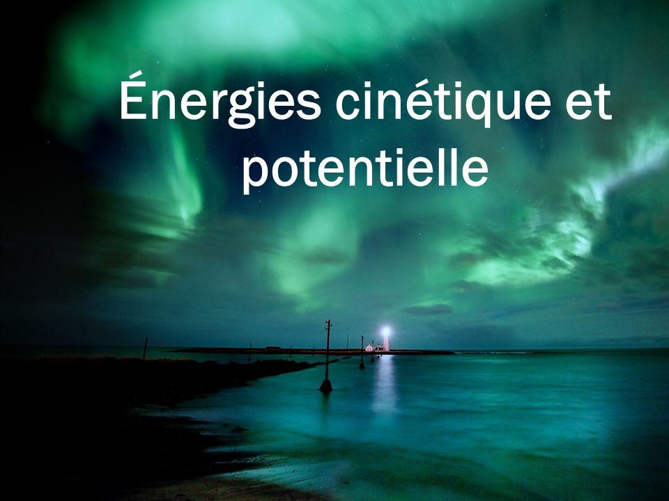 Énergies cinétique et potentielle