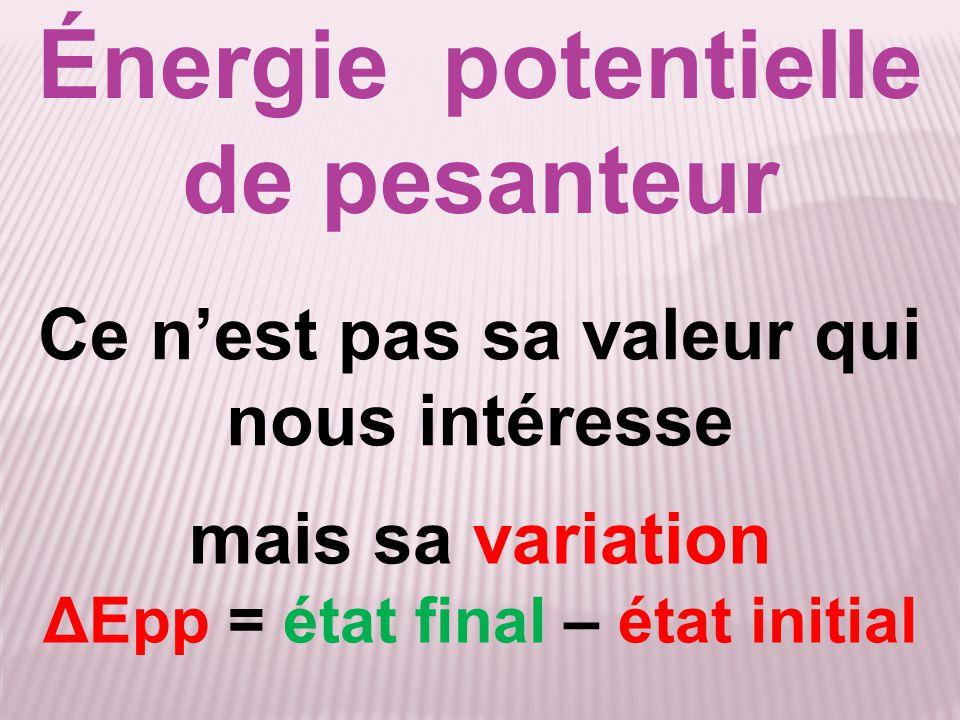 Énergie potentielle de pesanteur