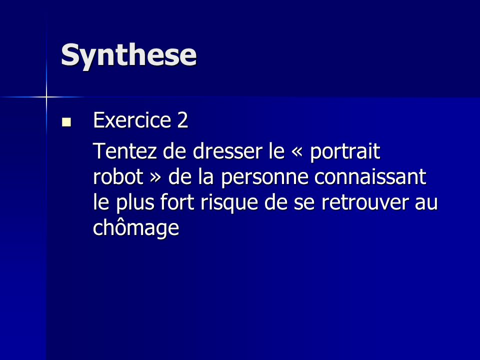Synthese Exercice 2.