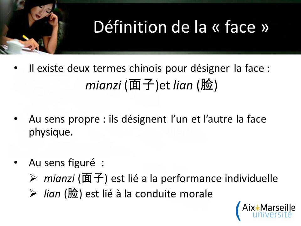Définition de la « face »