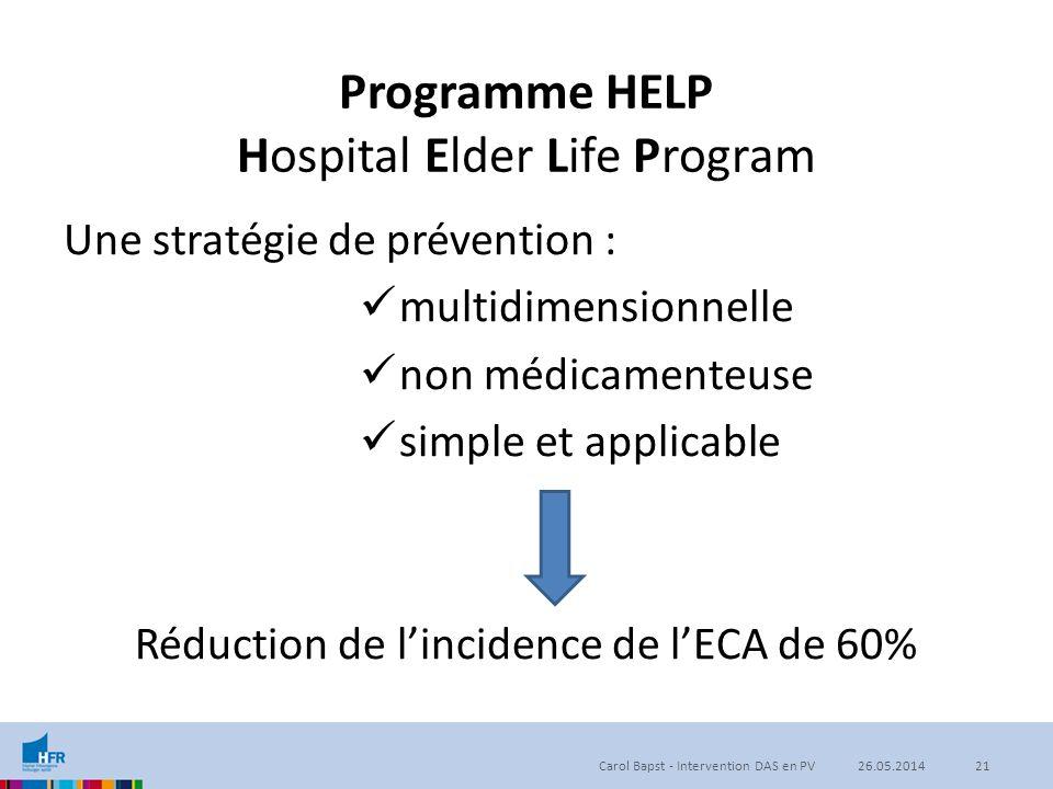 Programme HELP Hospital Elder Life Program