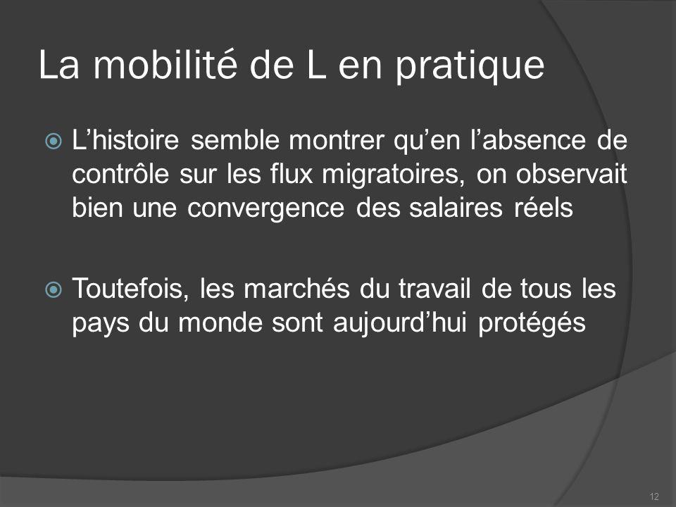 La mobilité de L en pratique