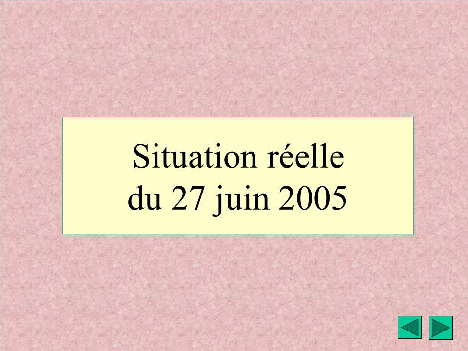 Situation réelle du 27 juin 2005