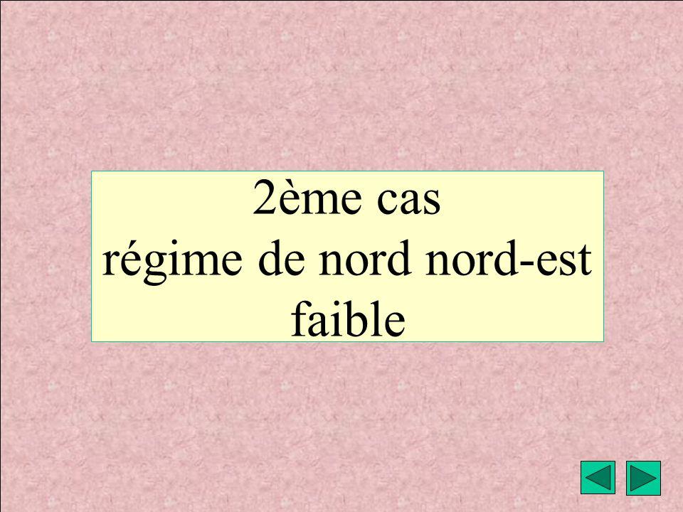 2ème cas régime de nord nord-est faible