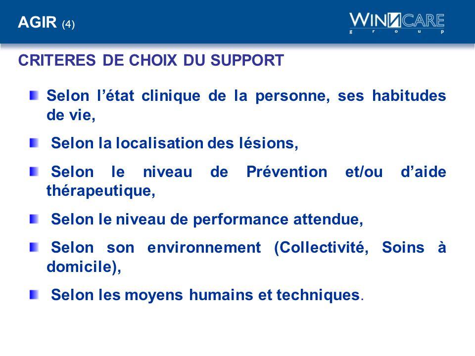 AGIR (4) CRITERES DE CHOIX DU SUPPORT