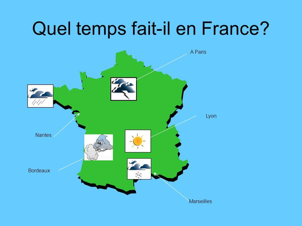 Quel temps fait-il en France