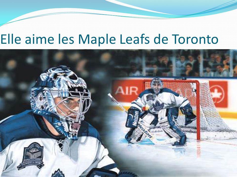 Elle aime les Maple Leafs de Toronto