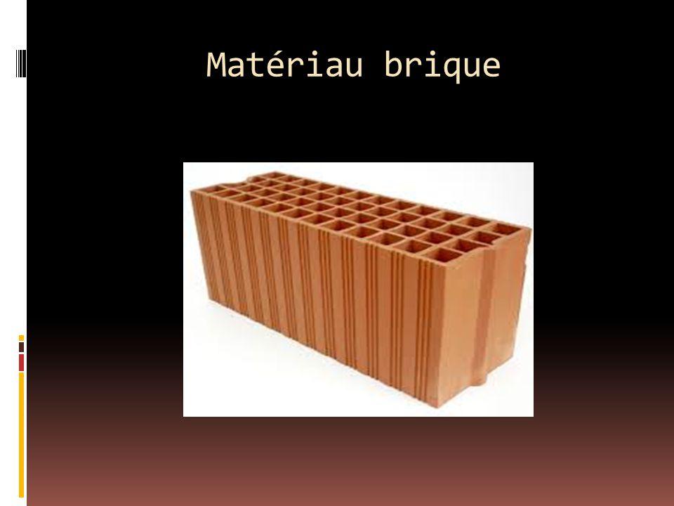 Matériau brique