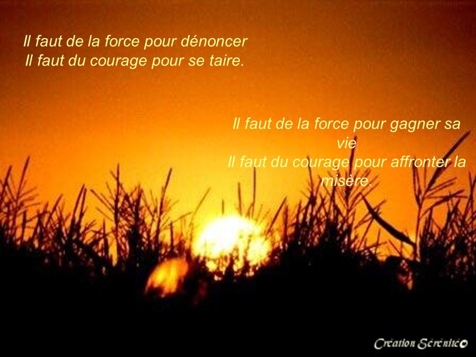 Il faut de la force pour dénoncer Il faut du courage pour se taire.