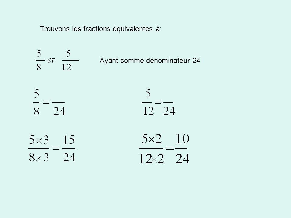 Trouvons les fractions équivalentes à: