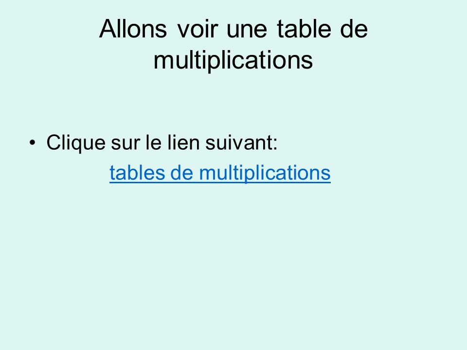 Les charmantes fractions ppt t l charger for Voir les tables de multiplication