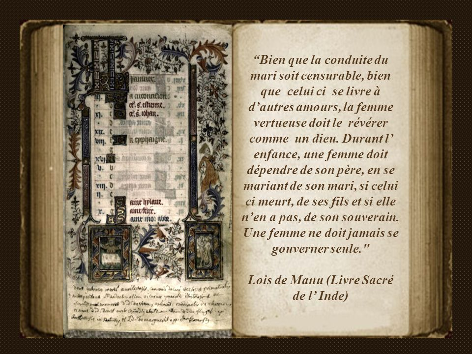 Lois de Manu (Livre Sacré de l' Inde)