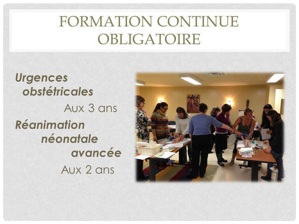 formation continue OBLIGATOIRE