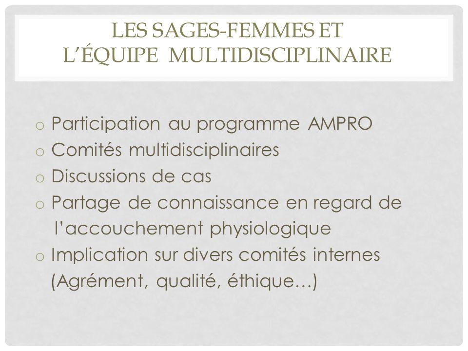 Les sages-femmes et l'équipe multidisciplinaire