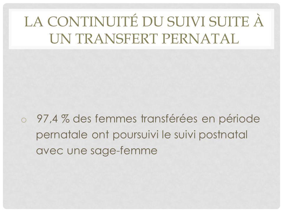 La continuité du suivi suite à un transfert pernatal