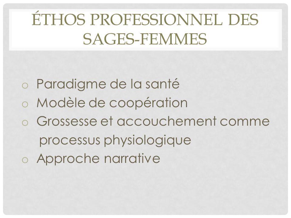 ÉTHOS PROFESSIONNEL DES SAGES-FEMMES