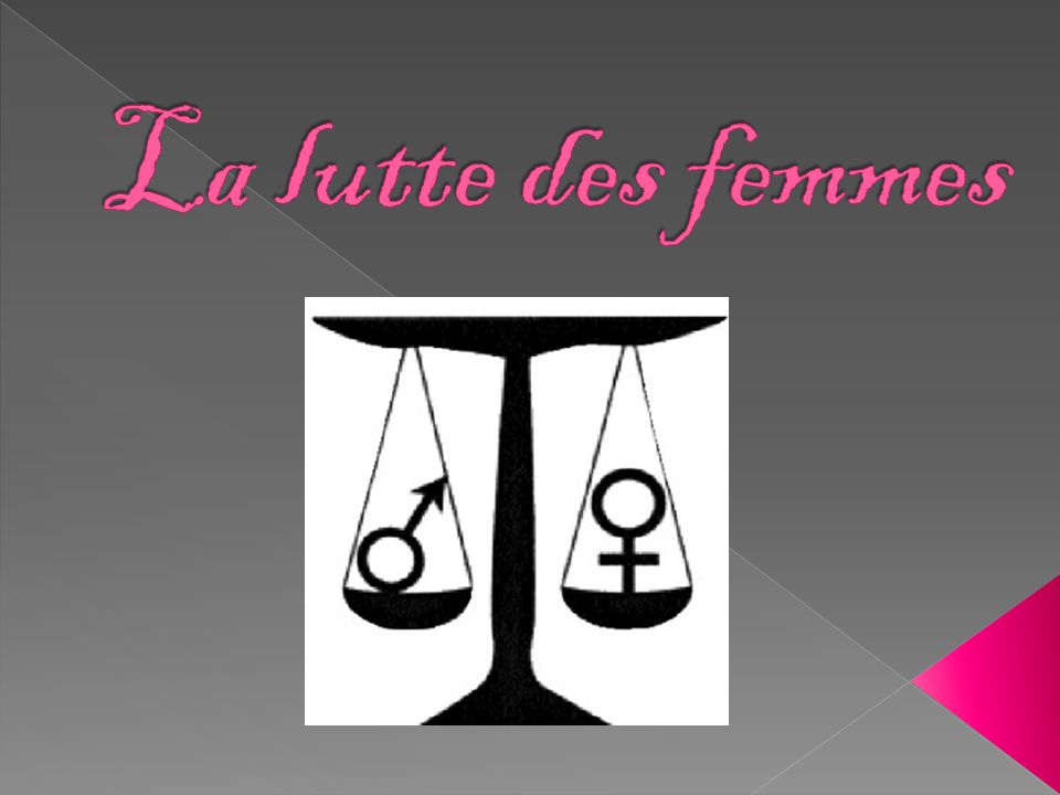 La lutte des femmes