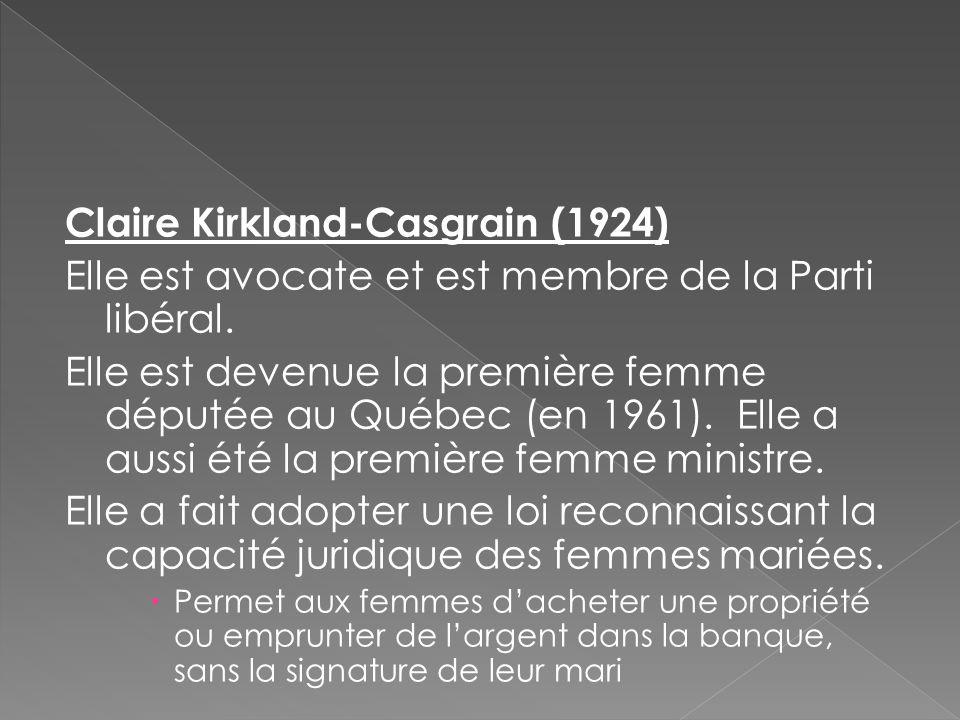 Claire Kirkland-Casgrain (1924)