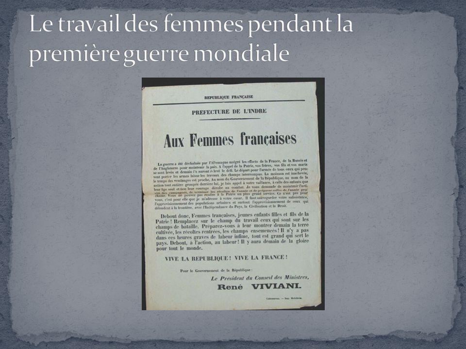 Le travail des femmes pendant la première guerre mondiale