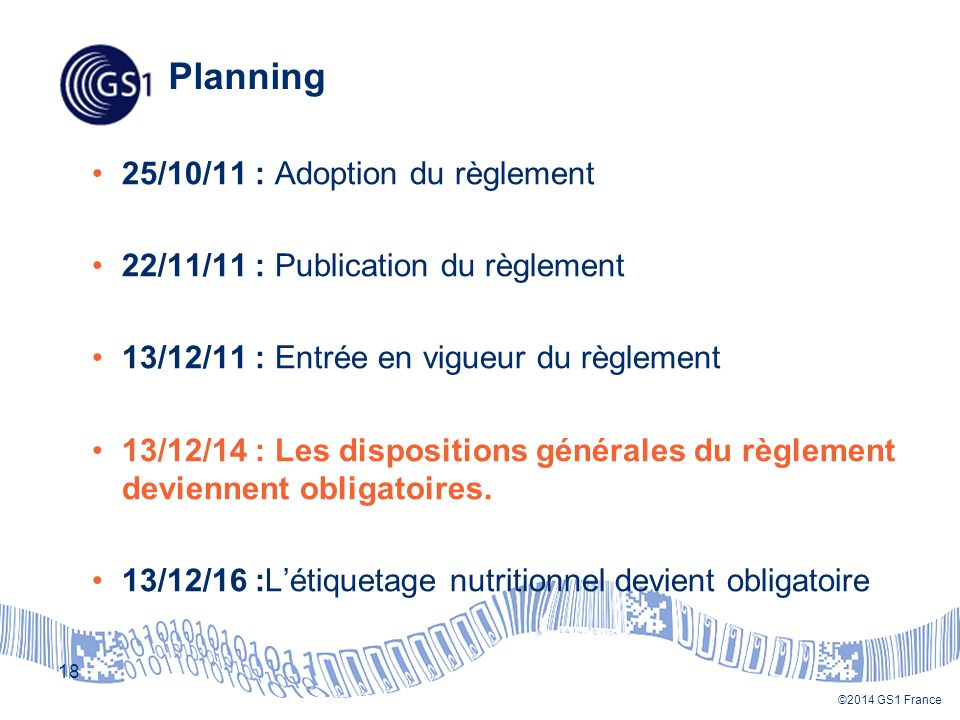 Planning 25/10/11 : Adoption du règlement