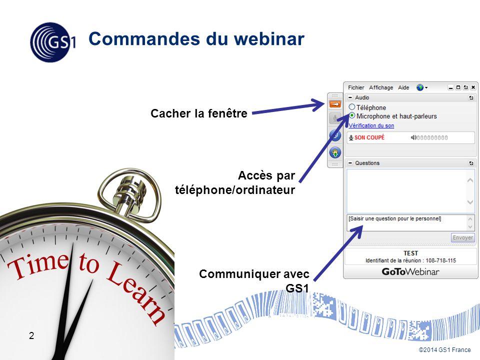 Commandes du webinar Cacher la fenêtre Accès par téléphone/ordinateur