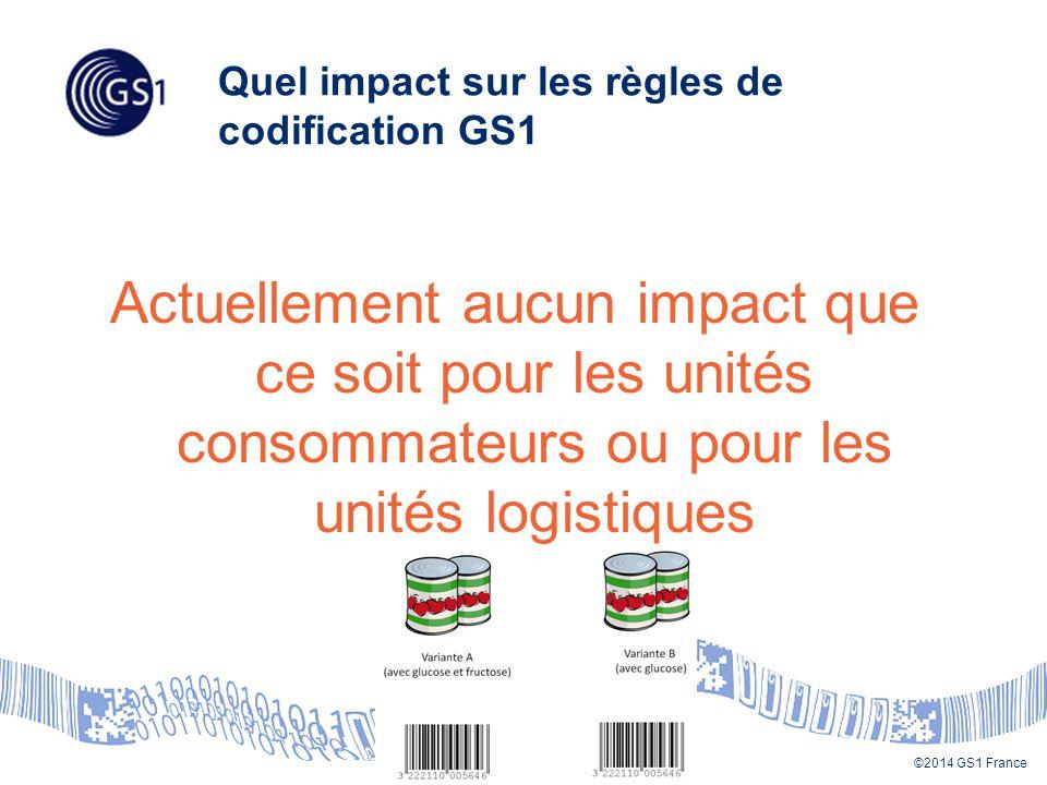 Quel impact sur les règles de codification GS1