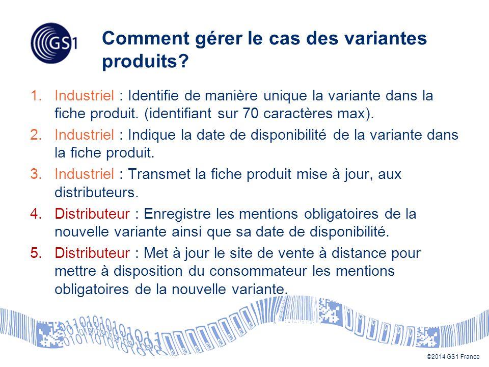 Comment gérer le cas des variantes produits