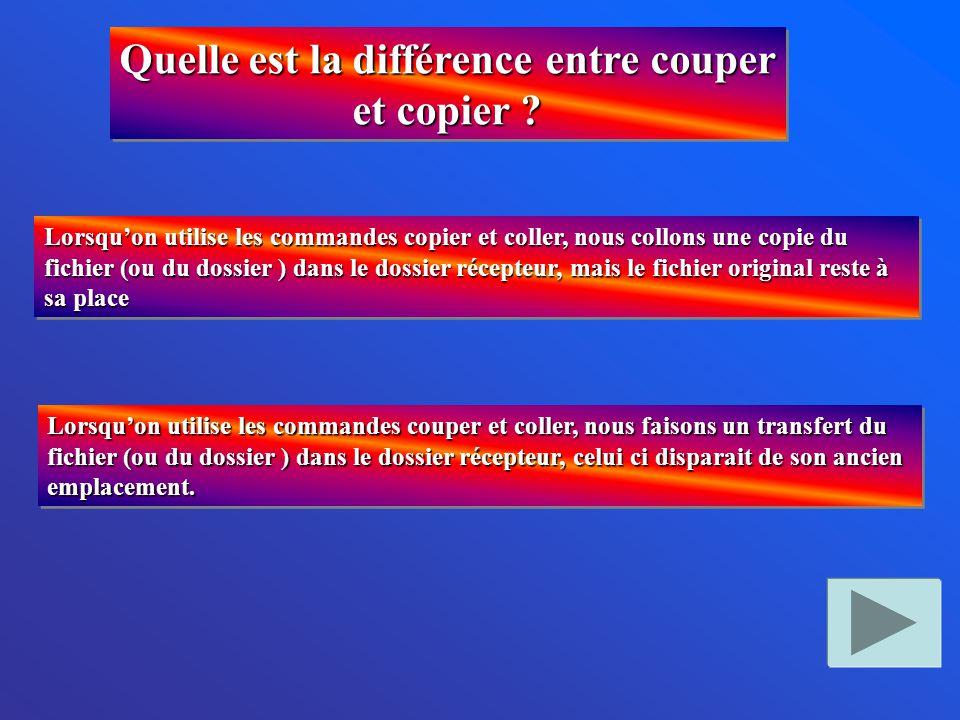 Quelle est la différence entre couper et copier