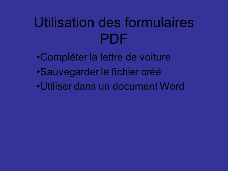 Utilisation des formulaires PDF