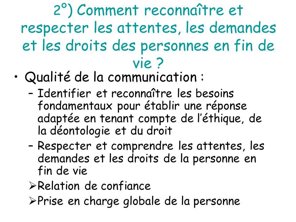 Qualité de la communication :