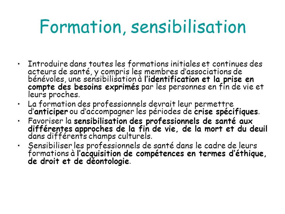 Formation, sensibilisation