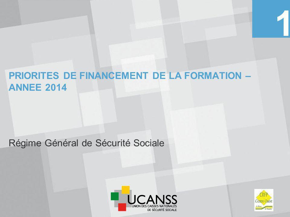 PRIORITES DE FINANCEMENT DE LA FORMATION – ANNEE 2014
