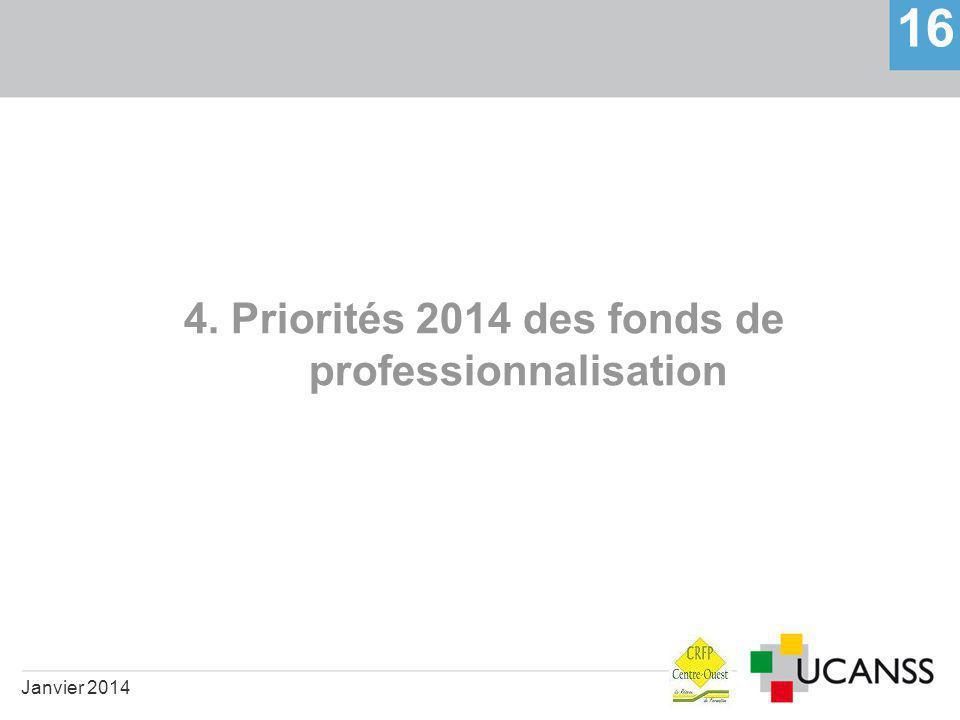 4. Priorités 2014 des fonds de professionnalisation