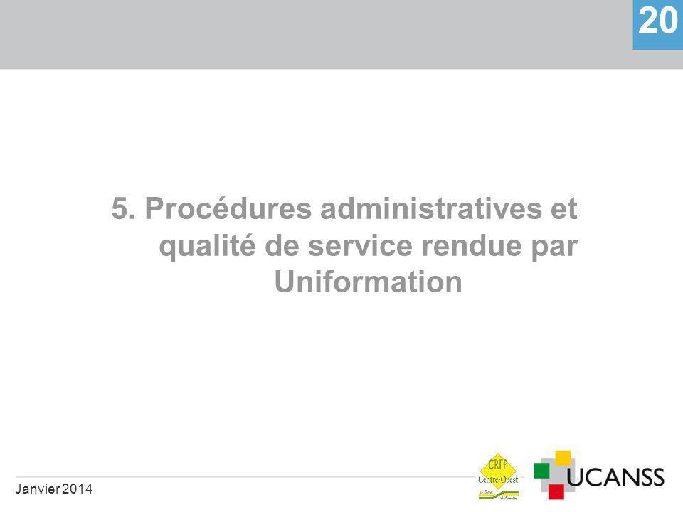 5. Procédures administratives et qualité de service rendue par Uniformation