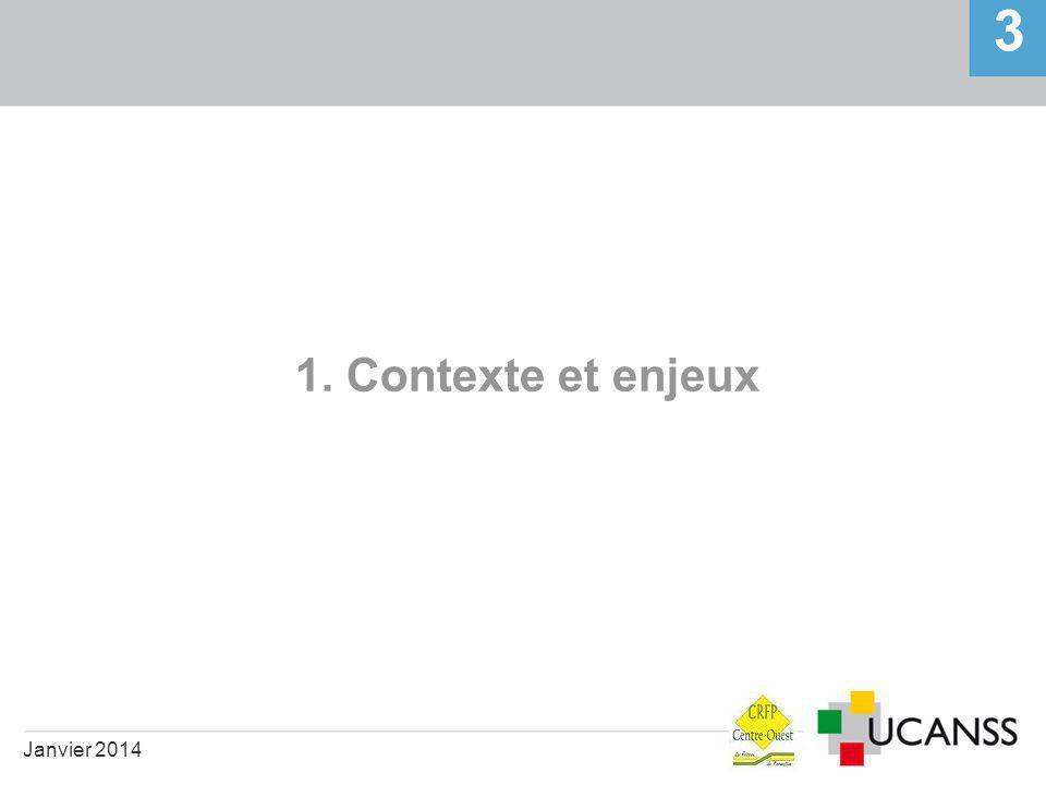1. Contexte et enjeux Janvier 2014