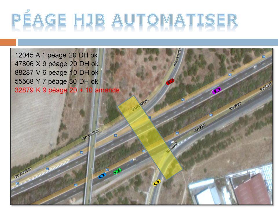 Péage HJB automatiser 12045 A 1 péage 20 DH ok