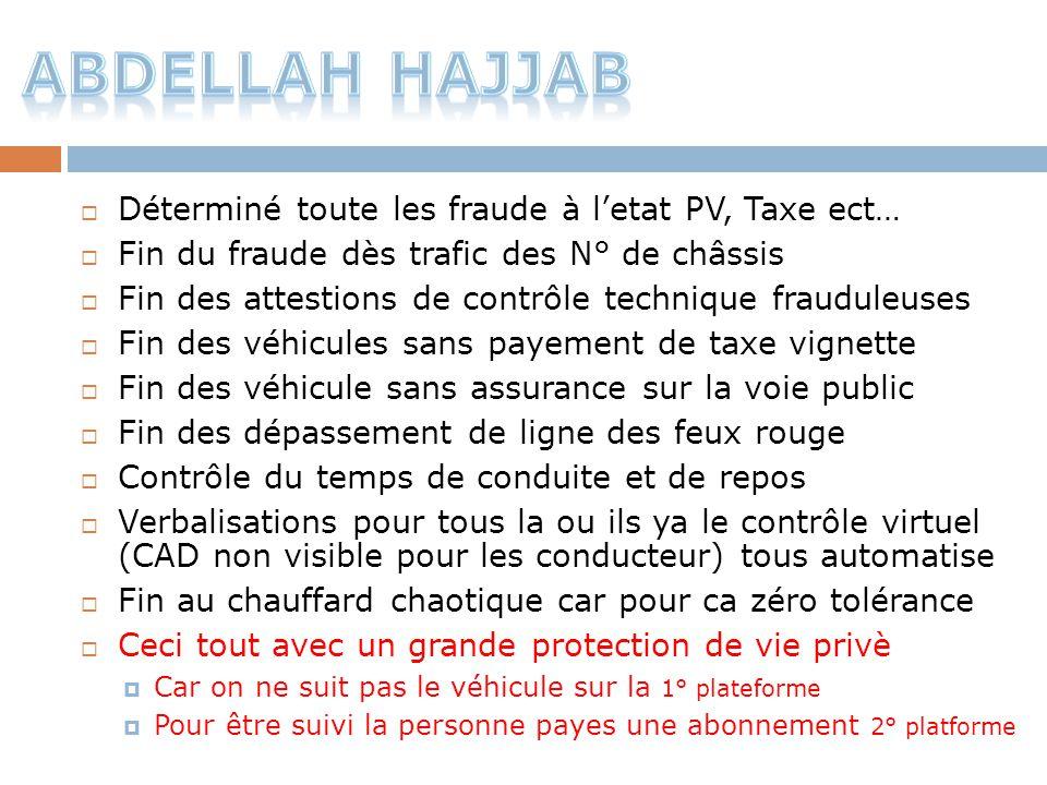Abdellah Hajjab Déterminé toute les fraude à l'etat PV, Taxe ect…