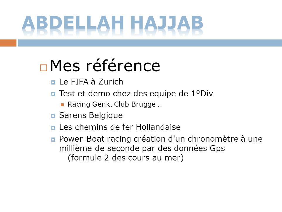 Abdellah HaJjaB Mes référence Le FIFA à Zurich