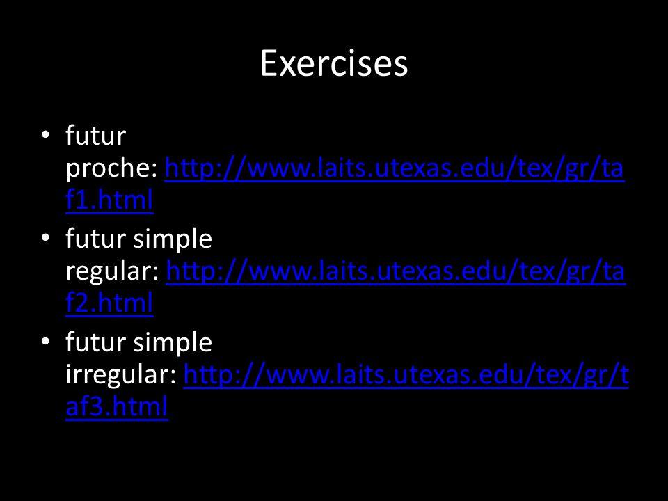 Exercises futur proche: http://www.laits.utexas.edu/tex/gr/taf1.html