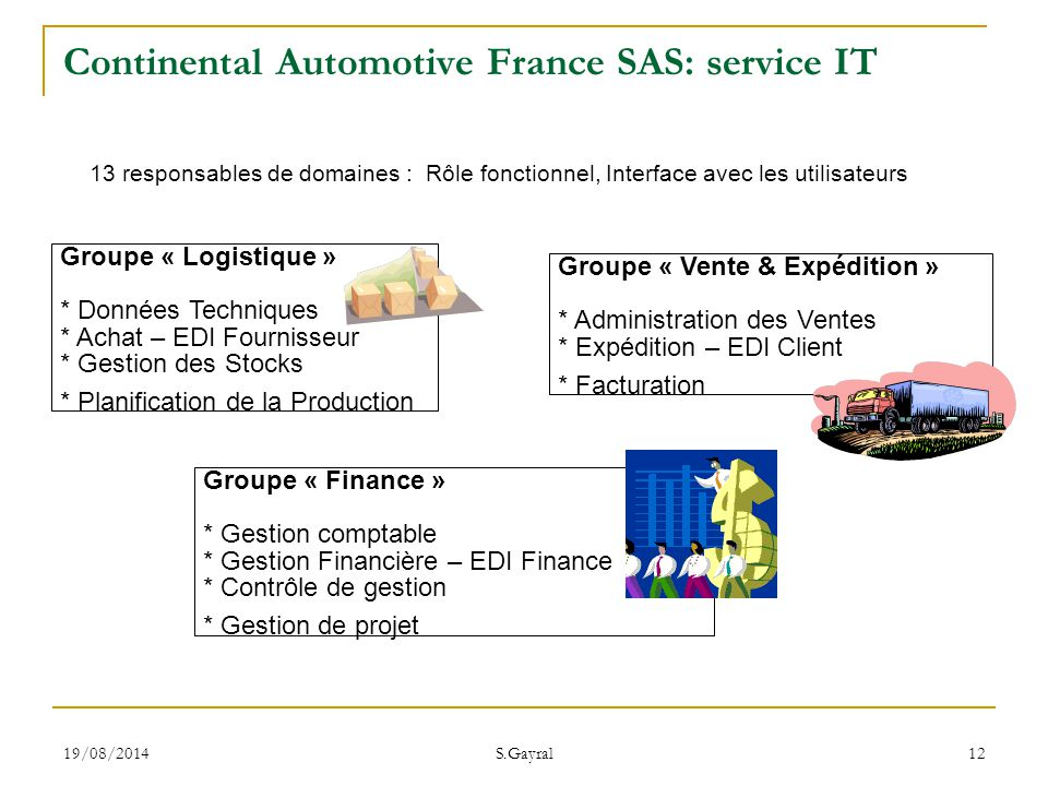 Continental Automotive France SAS: service IT