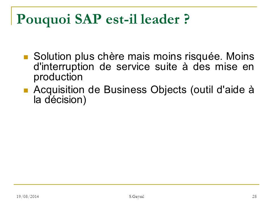Pouquoi SAP est-il leader