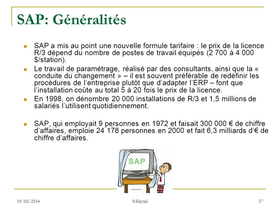 SAP: Généralités