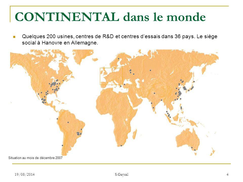 CONTINENTAL dans le monde