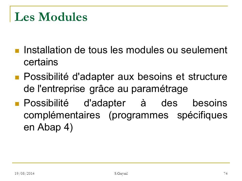 Les Modules Installation de tous les modules ou seulement certains