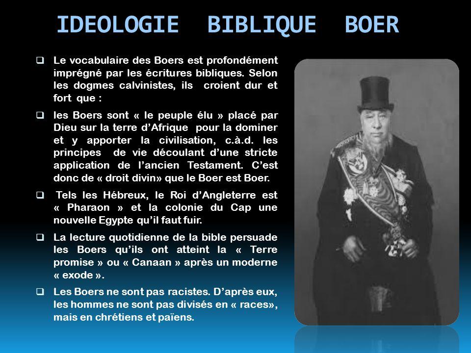 IDEOLOGIE BIBLIQUE BOER